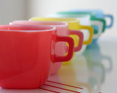 Red Glasbake Mug