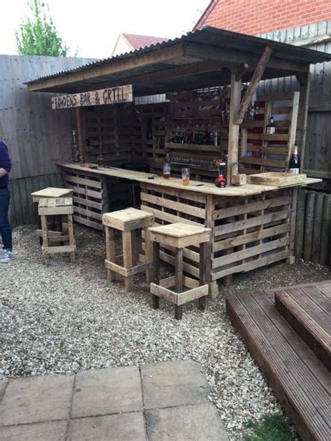 making  ultimate garden bar  pallets pallet