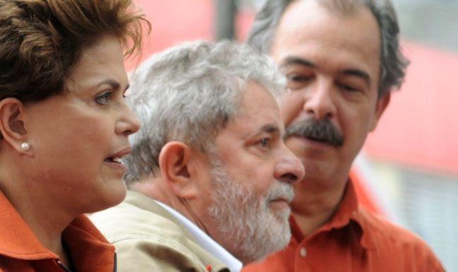 Dilma, Lula e Mercadante (Foto: Divulgação)