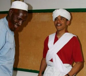 Then-Sen. Obama during a visit to Kenya in 2006