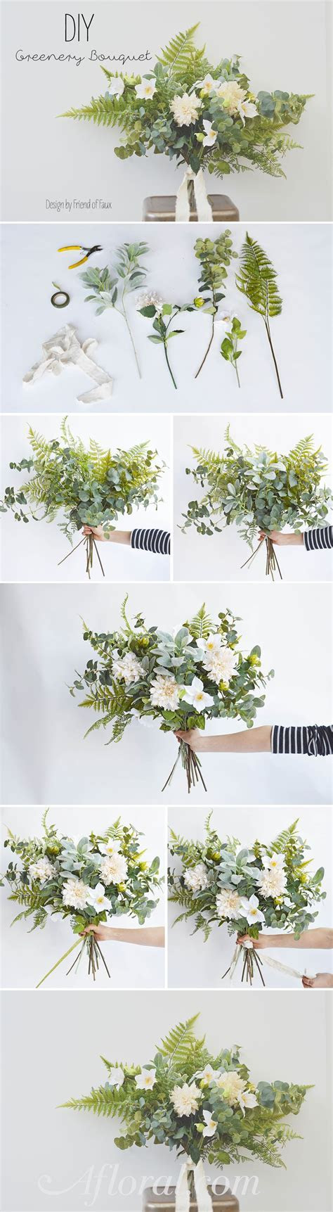 DIY Greenery Bouquet   Wedding   Wedding bouquets, Diy
