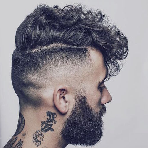 thenomadbarber bald fade undercut curly hair