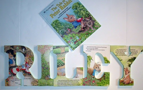 Zeebree Art Peter Rabbit Wooden Wall Letters