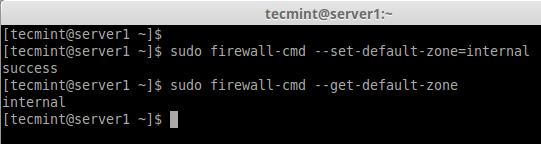 Set Firewalld Default Zone