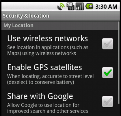 Enabling GPS in Android 1.6 (Emulator)