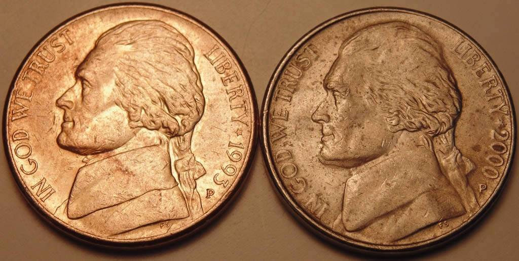 1993 Nickel copper colored. - Coin Community Forum