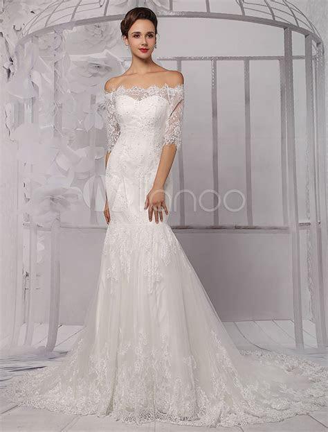 Off the Shoulder Lace Wedding Gown Wedding Dresses dressesss