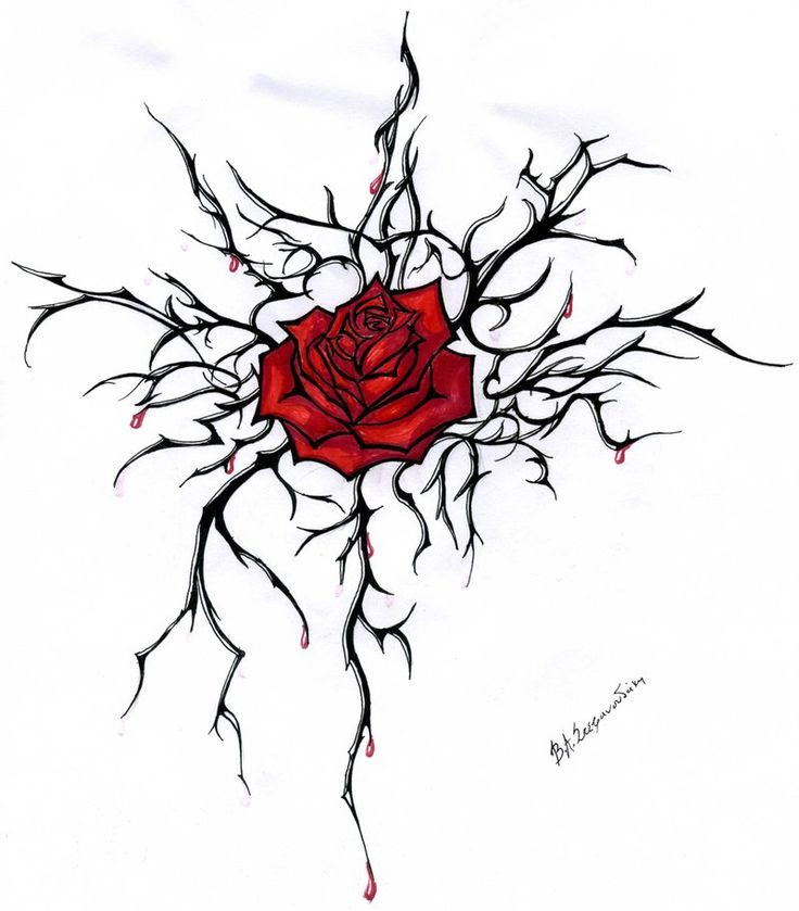 Single Red Rose Drawing At Getdrawingscom Free For Personal Use