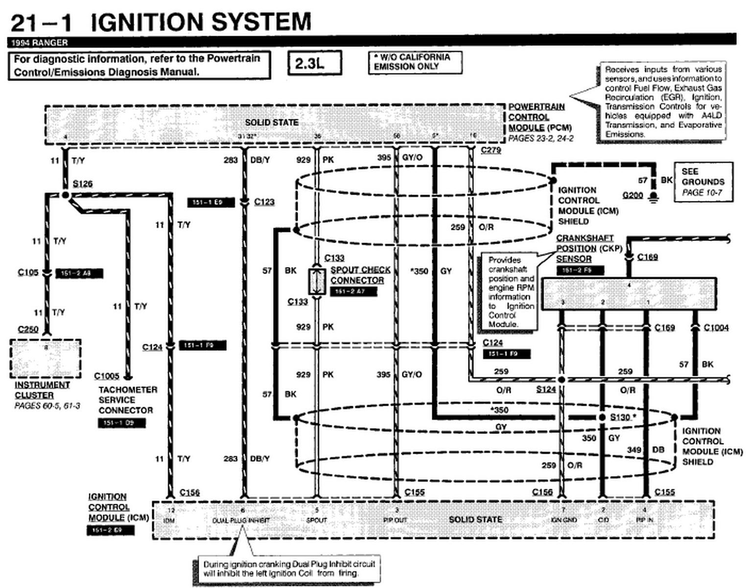 1991 Ford Ranger Engine Diagram - Wiring Diagram Schema