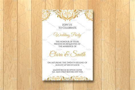 Wedding Invitation Card Template ~ Wedding Templates