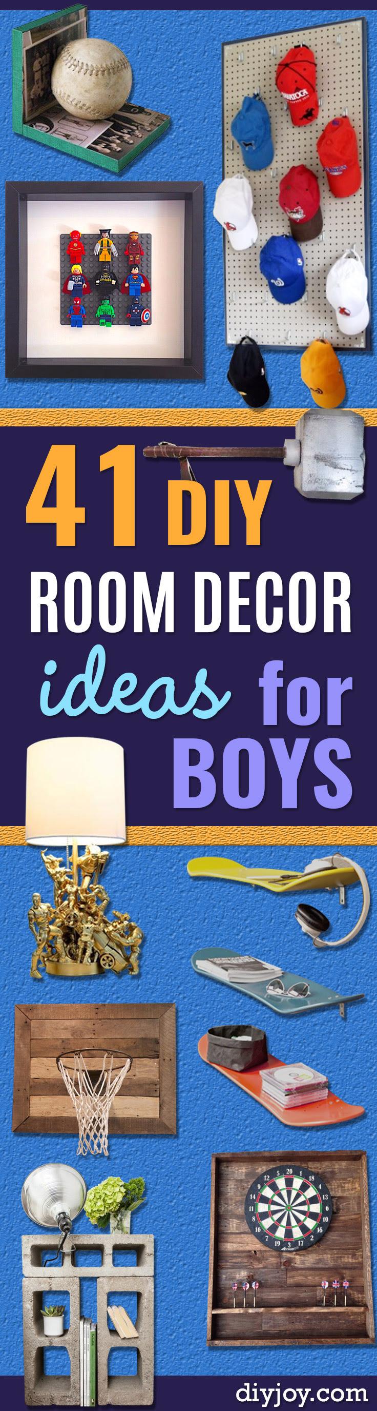 41 Super Creative DIY Room Decor Ideas for Boys