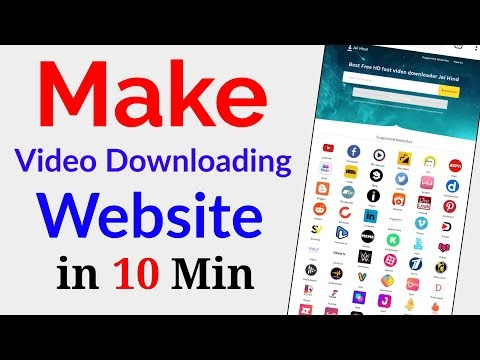 How to Make Video Downloading Website File 2021 | Video Download Website kaise banaye in hindi 2021