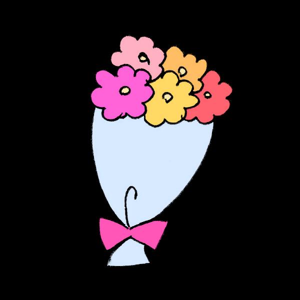 花束のイラスト かわいいフリー素材が無料のイラストレイン