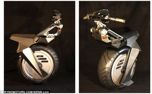 The RYNO scooter weighs 57kg, and can cope with slopes of up to 30 per cent.