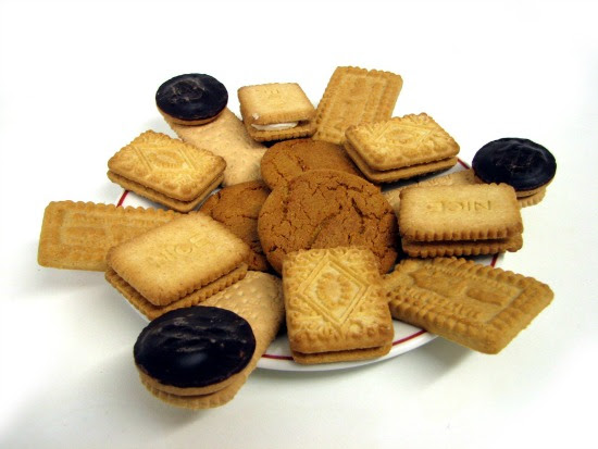 plate of biscuits