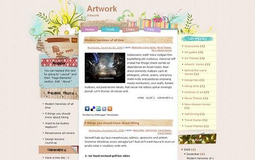 Ezw-Free-Blogger-template-artwork