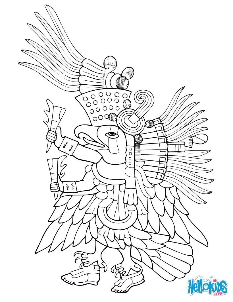 Dibujos Para Colorear Ehécatl Dios Del Viento Eshellokidscom