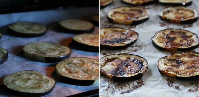 Roasting Eggplant Collage