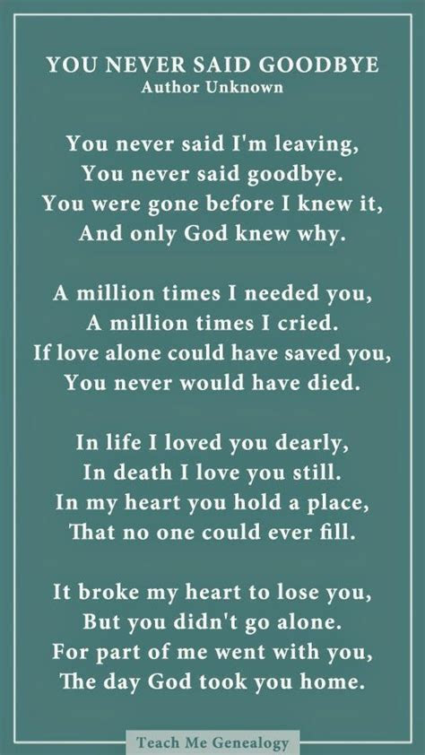 dad    goodbye  poem  losing  loved