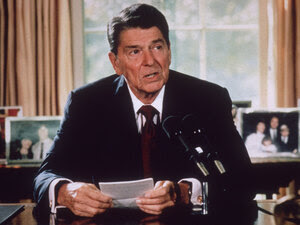 Ronald Reagan in 1985