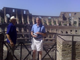 Mike overlooking the middle of the Colosseum
