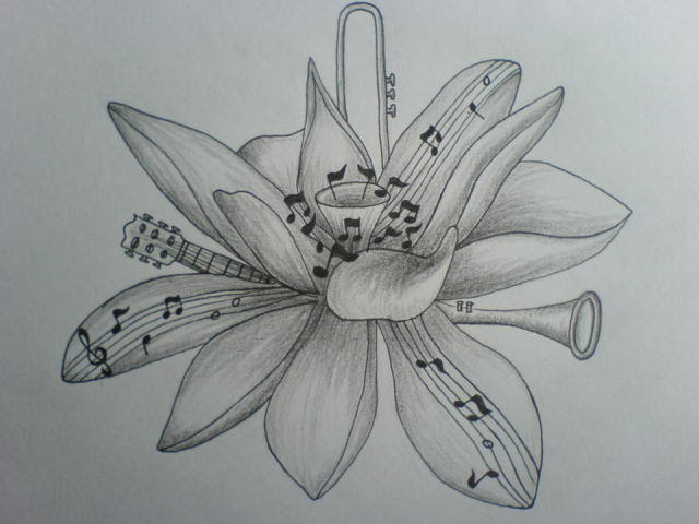Pictures Of Music Notes And Flowers Tattoos Kidskunstinfo