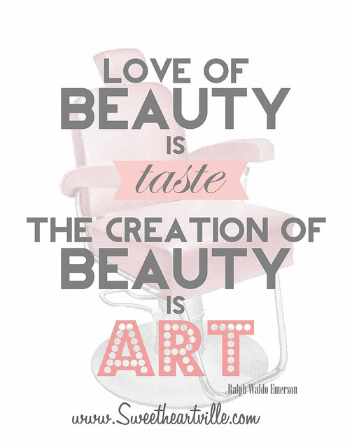 the creation of beauty is art