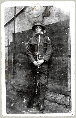 RPPC man in uniform