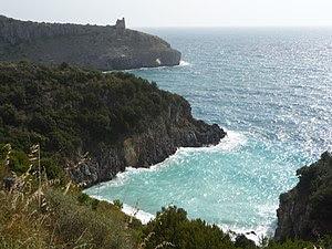 Coast near Marina di Camerota, Cilento, Italy