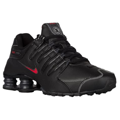 nike shox nz mens running shoes blackvarsity redwhite