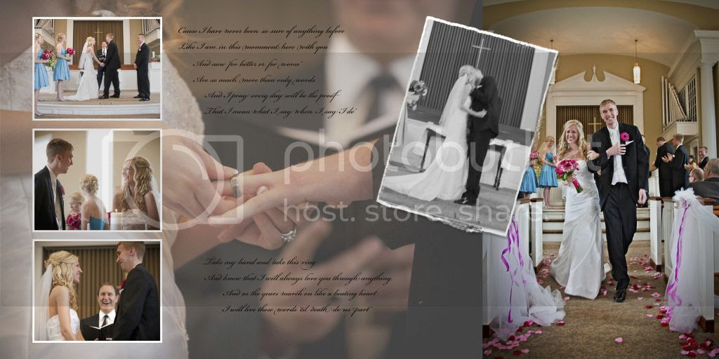 Wedding Ceremony Wedding Album Layout