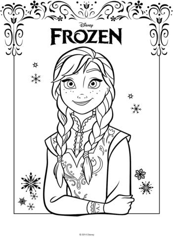 Coloriage Anna De La Reine Des Neiges Coloriages à Imprimer Gratuits