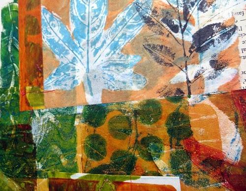 Janeville Works In Progress Gelli Print Collage