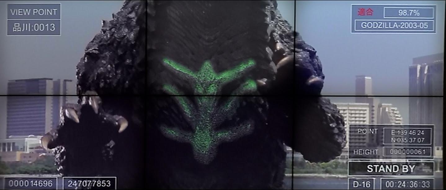 Godzilla's vulnerability--his front.