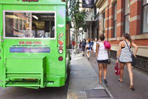 Un camión de comida callejero en Nueva York.