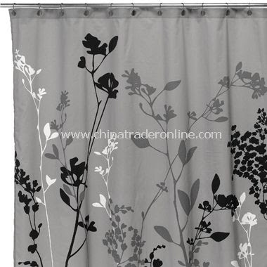 Reflections Gray Fabric Shower Curtain,Reflections Purple Fabric ...