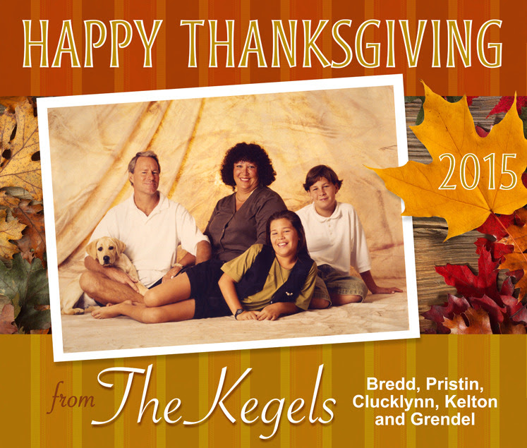 Happy Thanksgiving from The Kegels