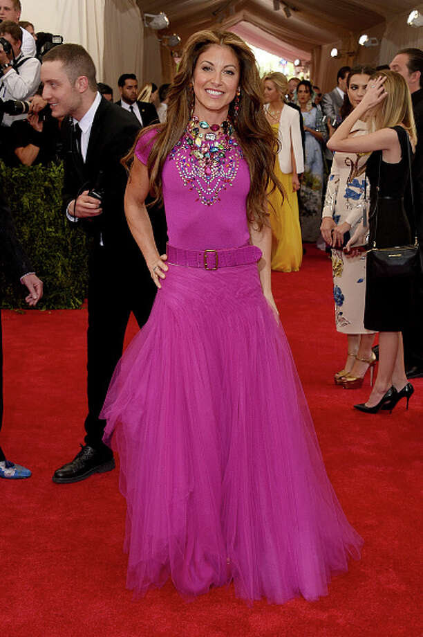 Dylan Lauren. The color, the belt, the fabric, the rhinestones, it's all just so… why, Dylan? Why? Photo: Larry Busacca, Getty Images / 2015 Getty Images