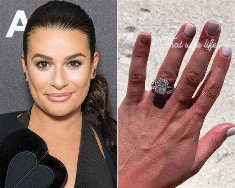 Lea Michele Debuts Her Wedding Band: See How She Stacked