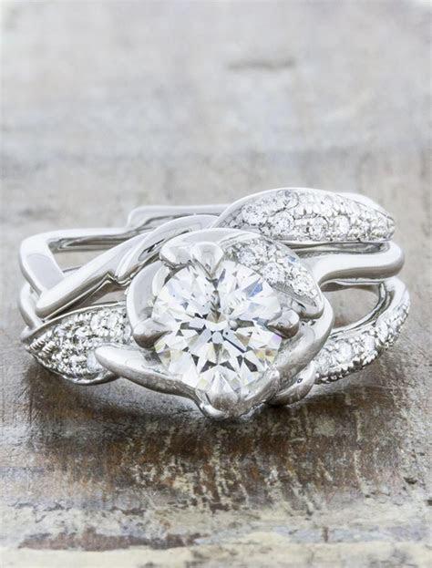 unique wedding ring nature inspired Ken & Dana Design London
