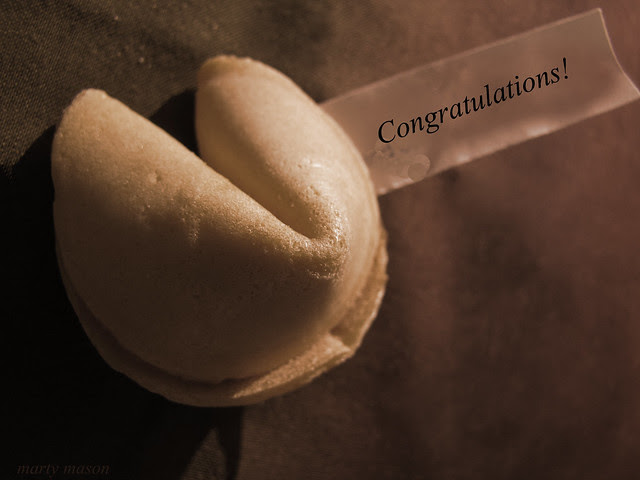 congratulations fortune cookie note card