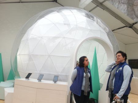 Google's Winter Wonderlab in Bryant Park PopUp Store