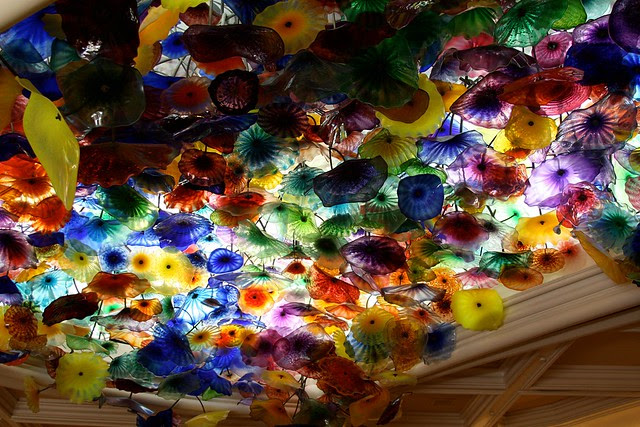 glass flowers, bellagio