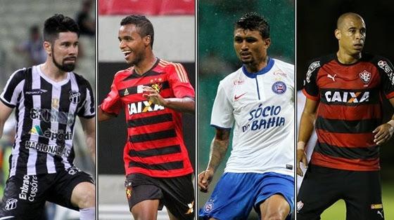 Ceará, Sport, Bahia e Vitória, os semifinalistas do Nordestão. Crédito: facebook.com/einordeste