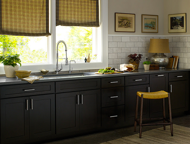 Black Kitchen Cabinets  Dayton Door Style  CliqStudios  Contemporary  Kitchen  minneapolis