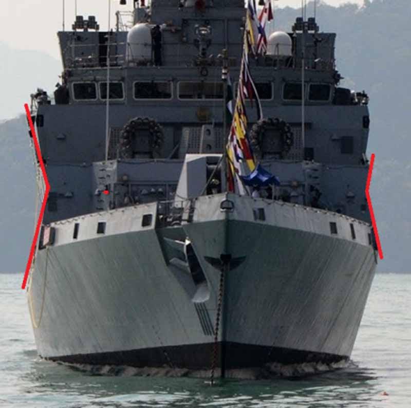 X-form hull to deflect radar
