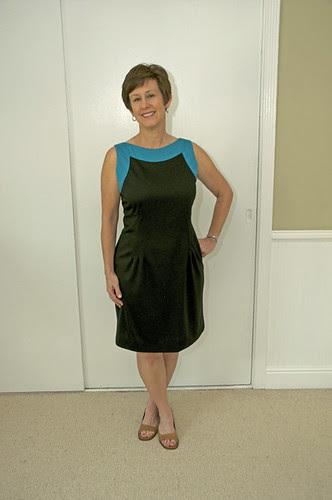 Color block dress without belt