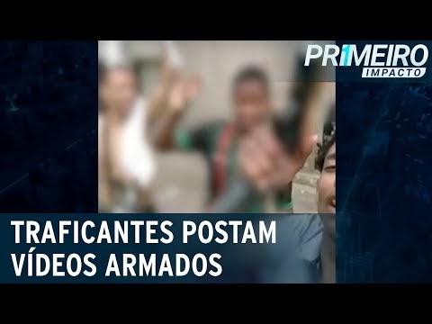 Traficantes publicam vídeos com armas de guerra para impor terror