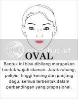 jenis bentuk muka wanita oval