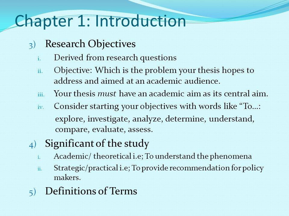 Thesis Chapter 1 To 5 - Thesis Title Ideas For College